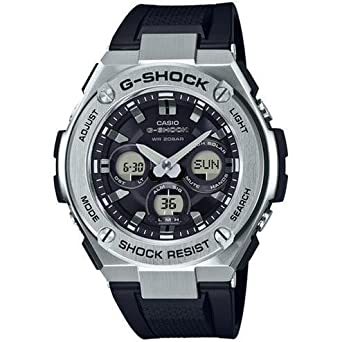08ee8ddf271 Image Unavailable. Image not available for. Color  Men s Casio G-Shock G- Steel Solar Stainless Steel and Resin Watch ...