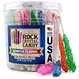 Boone's Mill | XL Rock Crystal Candy Sticks | Assorted Flavors | 36 Count