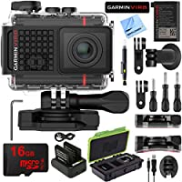 Garmin VIRB Ultra 30 HD 4K Bluetooth Action Camera Built-in GPS with Triple Battery Protective Case 16GB Accessory Kit