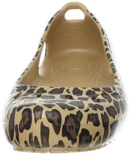 Leopard Ballerines Or gold Crocs Femme black Kadee vwq5zExf