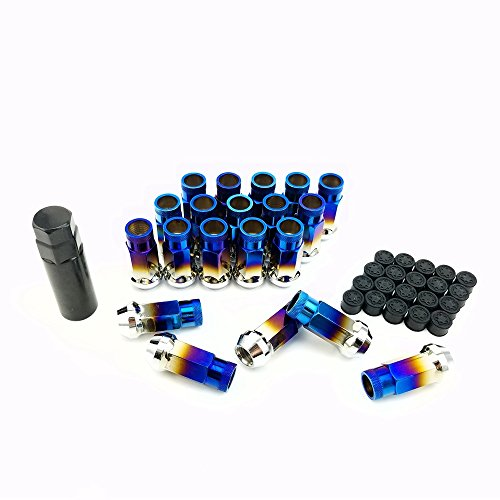 Roasted Blue 20 Pcs SR48 Steel Wheel Lug Nuts Length 48mm M12x1.25 (Nuts Lug Anodized)