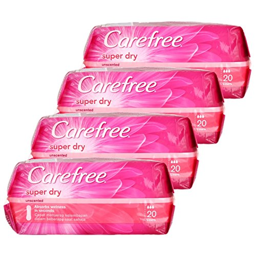 Carefree Super Dry Panty Liners 20 Count (Buy 3 Get 1 Free) product image