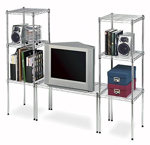 Whitmor Supreme Stacking Shelf and Organizer - Adjustable - Chrome by Whitmor (Image #3)
