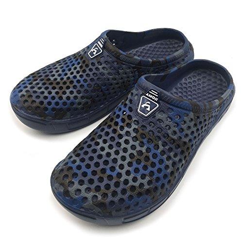 Amoji Unisex Pantofole Mimetiche Zoccoli Sandali Blu