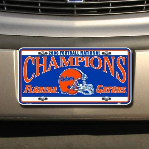 Bcs Champions Football - NCAA Florida Gators 2006 BCS National Champions Metal License Plate