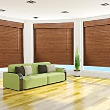 """Arlo Blinds, Tuscan Light Filtering Bamboo Roman Shade with Valance - Size: 30""""W x 54""""H"""