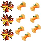 Yagopet 20pcs/pack Dog Hair Bows Halloween Designs Dog Curves Bows and Pumpkin Halloween Bows with Rubber Bands Dog Topknot Bows Pet Dog Grooming Bows Supplies Dog Hair Accessories