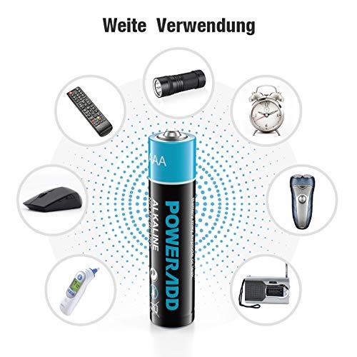 POWERADD AA Alkaline Akku 24 per Stücke Alkaline Batterie