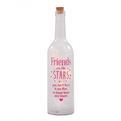 Friends Are Like Stars Light Up Bottle Illuminated Bottles Gift Range