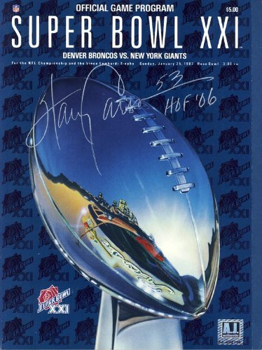 Harry Carson New York Giants Autographed Super Bowl XXI Program ()