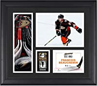 "Francois Beauchemin Anaheim Ducks Framed 15"" x 17"" Player Collage with a Piece of Game-Used Puck - Fanatics Authentic Certified"