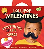 Peaceable Kingdom Mustaches and Lips Lollipop Toppers Super Valentine Card Pack