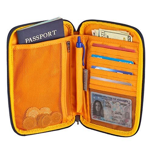 51hOW8pIjkL - Eagle Creek Unisex-Adult's RFID Travel Zip Organizer, Sahara Yellow