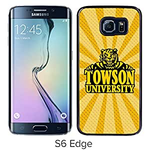 NCAA Towson Tigers 6 Black Samsung Galaxy S6 Edge Protective Phone Cover Case