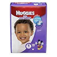 Huggies Little Movers Diapers, Size 6, 18 Count(Packaging May Vary)