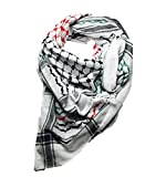 Mohavy Hirbawi Arabic Scarf Cotton Original Classic Arab Fashion Scarf Shemagh Keffiyeh Hatta Palestine Flag (Special Discount Only At Amazon)