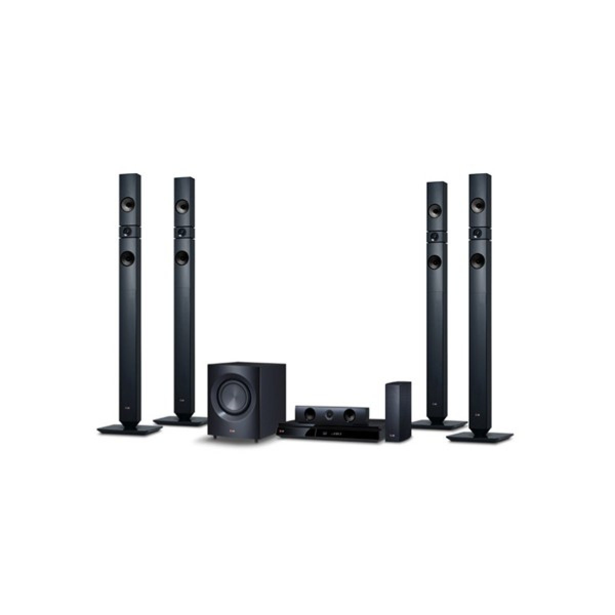 LG LHD457 Bluetooth Multi Region Free 5.1-Channel DVD Home Theater Speaker System w/ Free HDMI Cable, 110-240v
