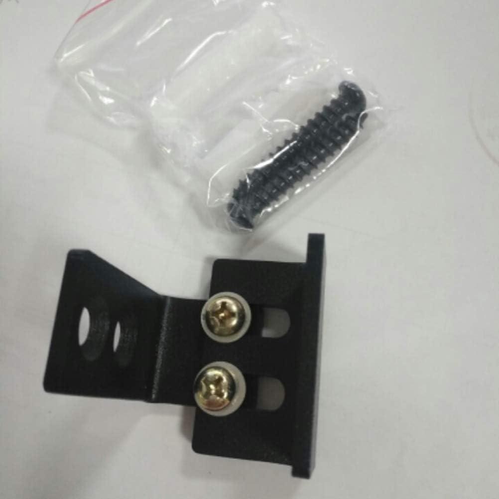 Negro Yardwe Gu/ía de Montaje en Pared Gu/ía de Piso de Acero al Carbono para Puertas de Granero Accesorios de Hardware Riel Deslizante
