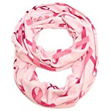 Falari Women's Pink Ribbon Breast Cancer Symbol Scarf
