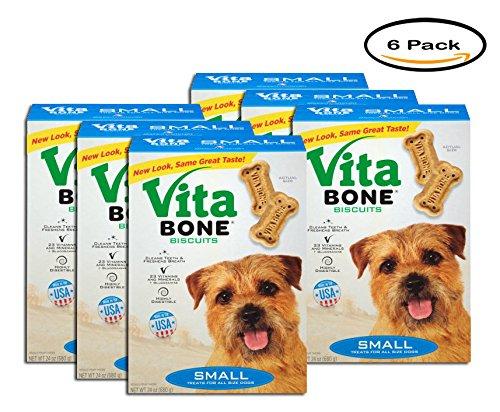 PACK OF 6 - Vita Bone Small Dog Biscuits 24 oz. Box by Vita Bone