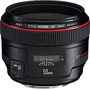 Canon EF 50mm f/1.2L USM - Objetivo para Canon (distancia focal fija 50mm, apertura f/1.2-16, diámetro: 72mm) negro