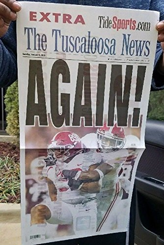 Alabama National Champions~ Tuscaloosa News 1/9/2015- - Shops Tuscaloosa