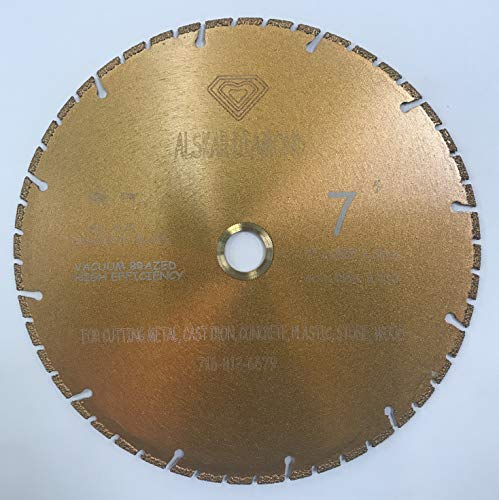 ALSKAR DIAMOND ADTVBT 7 inch All Purpose Metal Cutting Dry or Wet Cutting Segmented Diamond Blades for Metal and Plastic Materials (7