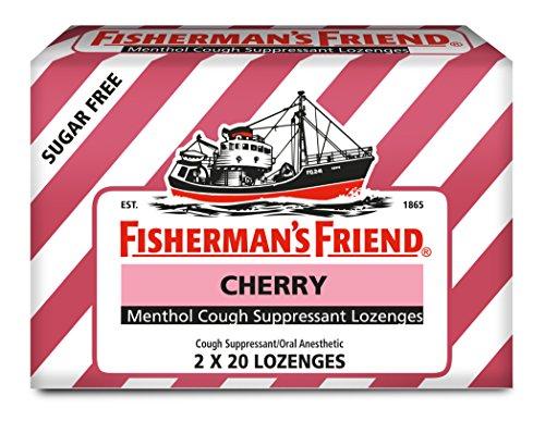 (Fisherman's Friend Sugar Free Cherry Menthol Cough Drops, Cough Suppressant Lozenges, 40 Count)