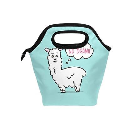 8107e9d07355 Amazon.com: Lunch Bag Tote Bag No Drama Llama Cute Lunch Handbags ...