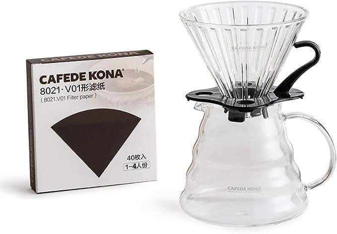 He-art Juego preparación café para Verter con Filtro Papel Goteo Vidrio Molinillo café Manual y hervidor Cuello de Cisne de 600 ml Diseñado específicamente para cafetera de Pendientes pronunciadas,A: Amazon.es: Hogar