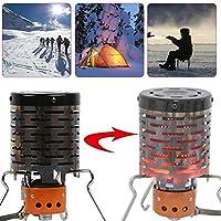 Estufa port/átil para Acampar Mini Carpa calefactora para mochileros al Aire Libre Senderismo Travel BBQ y Pesca Carpa Exterior Calefactor Adaptador de Calefactor ASEOK Stove Calefactor