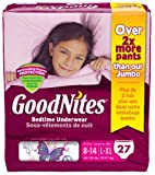 Health & Personal Care : Goodnites Underwear - Girl - Large/X-Large - 27 ct