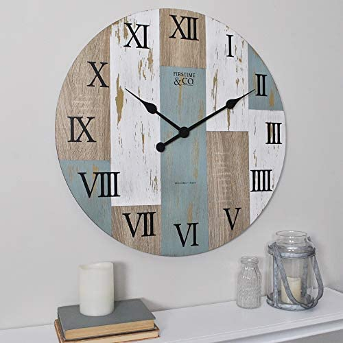 FirsTime Co. 24 Timber Planks Wall Clock, 24 , 24