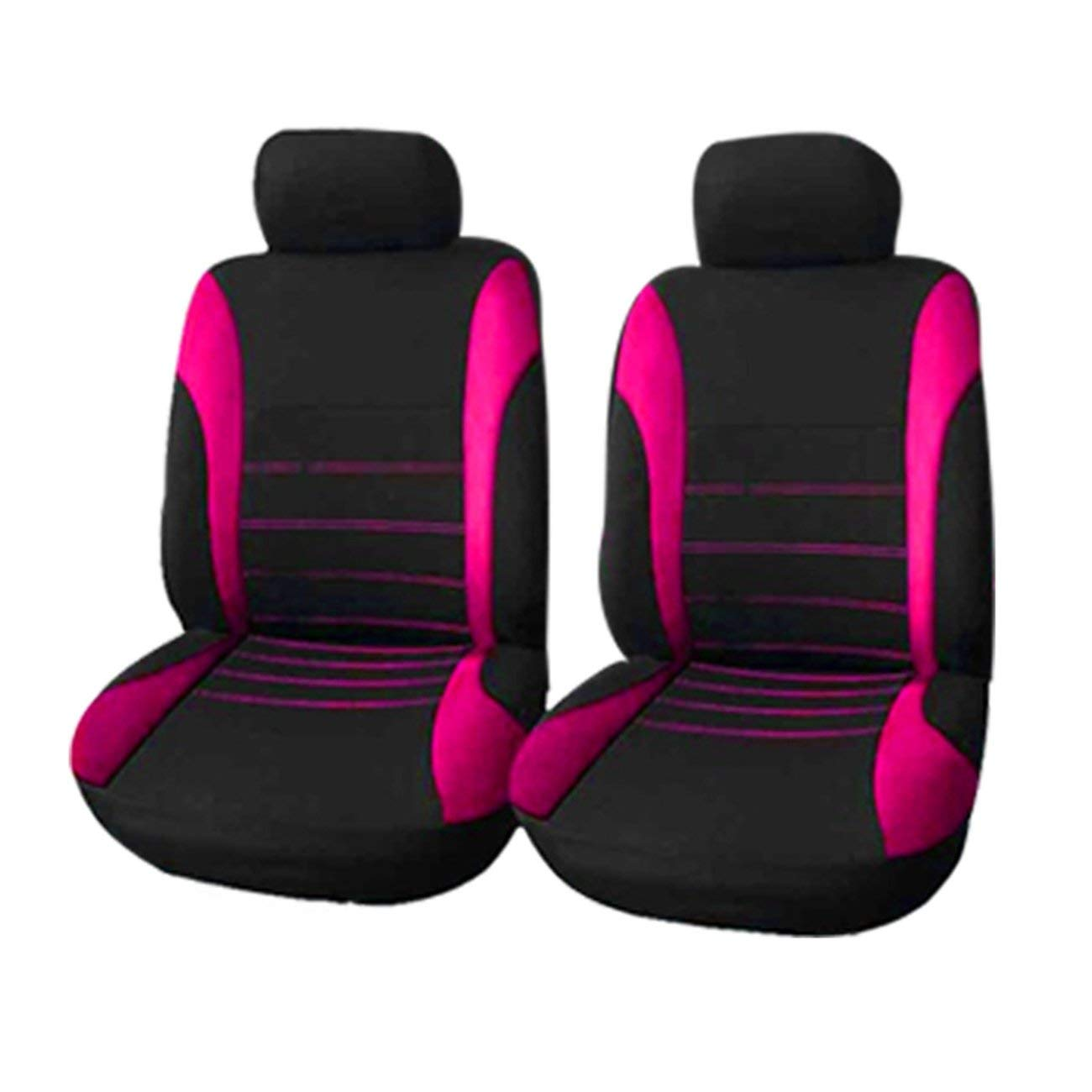 4pcs//Set Car Seat Cover Seat Protector Comfortable Dustproof Headrest Covers Front Seat Covers Universal for Auto Cars Rose red Panda