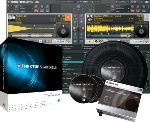 front facing Native instruments traktor scratch duo