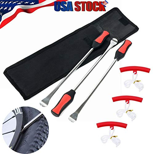 NewKelly Multifunctional Automotive Repair Tools Tire Spoon Lever Iron Tool Motorcycle Bike Tire Change Kit W/ 3Pc Rim Protectors 6 Pcs Durable to Use ()