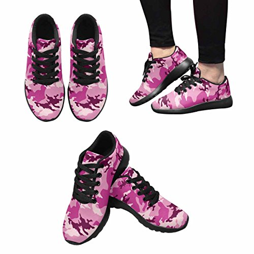 InterestPrint Fashionable Camouflage Womens Jogging Running Sneaker Lightweight Go Easy Walking Shoes Multi 1 Ftvpv