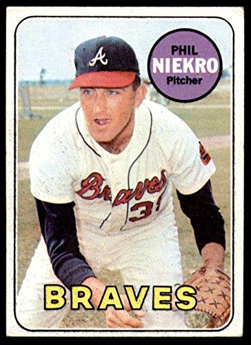 1969 Topps # 355 Phil Niekro Atlanta Braves (Baseball Card) Dean's Cards 5 - EX Braves