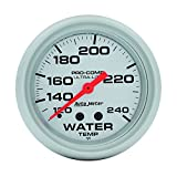 "Auto Meter 4432 Ultra-Lite 2-5/8"" 120-240 F Mechanical Water Temperature Gauge"