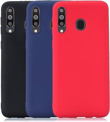 Rongecr 3x Color Puro Funda para Samsung Galaxy M30, Carcasa ...