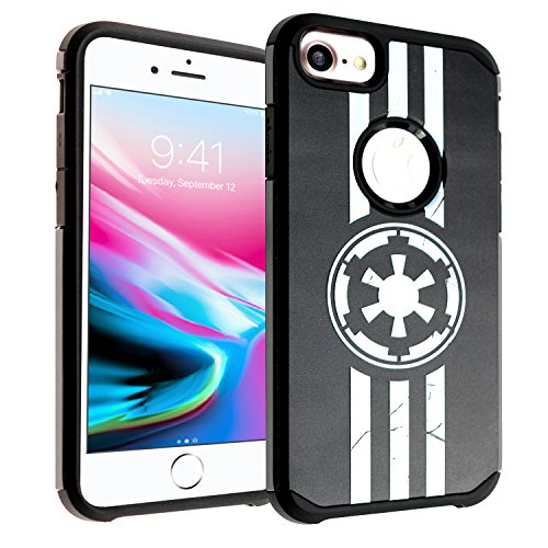 iPhone 8 Case, DURARMOR Star Wars Imperial Logo Dual Layer Hybrid ShockProof Ultra Slim Fit Armor Air Cushion Defender Protector Cover for iPhone 8 Imperial Star Wars (Star Wars Case)