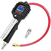 GOOLOO Digital Tire Inflator with Pressure Gauge 255 PSI Air Chuck and Compressor (Black)
