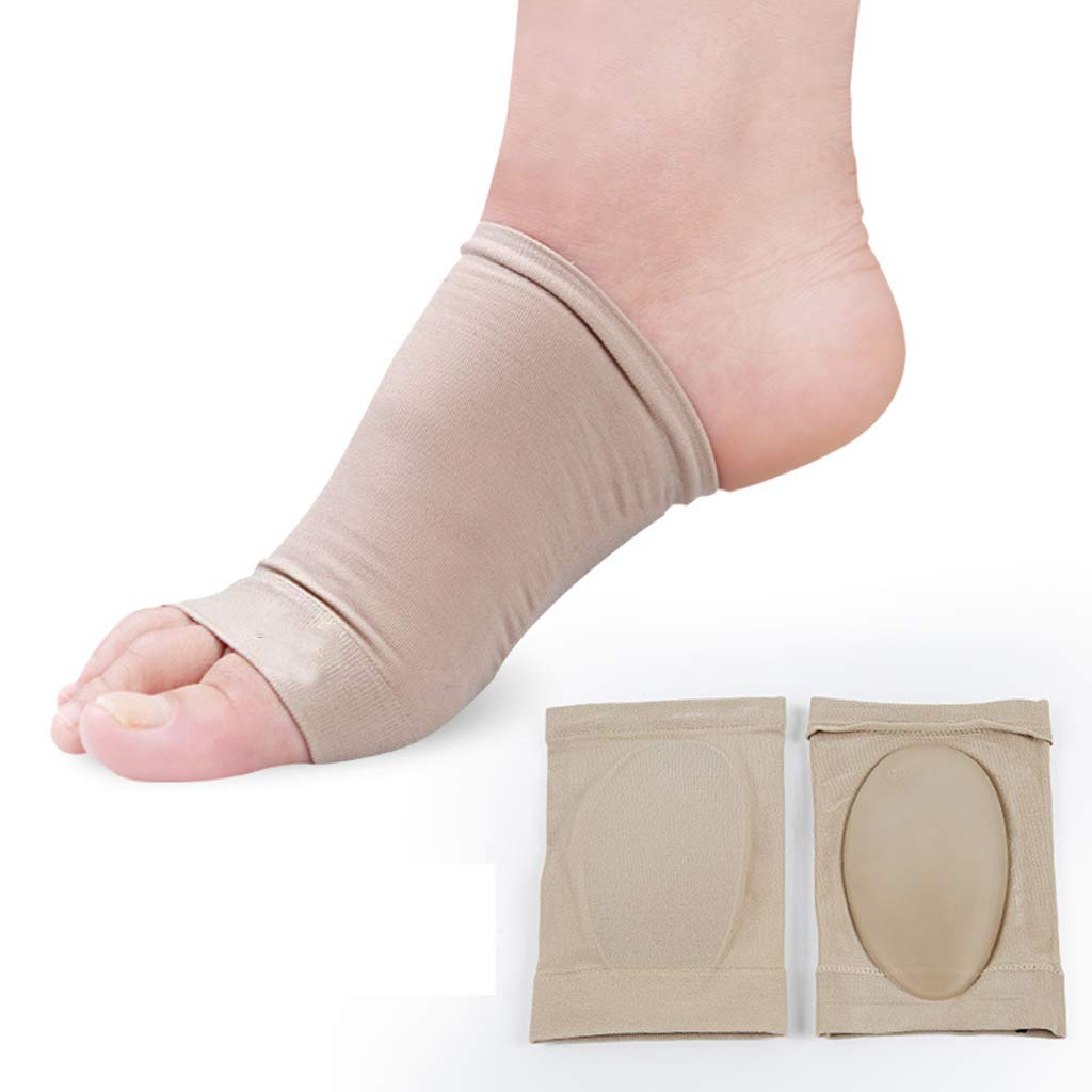 5 Pairs of Silicone Arch Foot Pads Forefoot Metatarsal Cushions Half Toe Sleeve Flat Foot Insole for Reliefing Tibia Pain