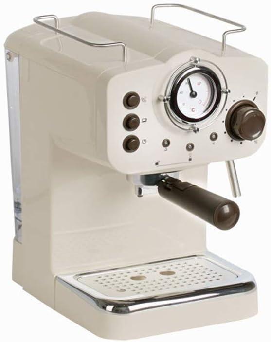 HEYU Cafetera Máquina de café exprés automática Retro, Papel