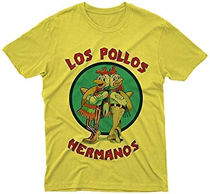 Camiseta de Los Pollos Hermanos Breaking Bad Serie TV Film Cinema fm10: Amazon.es: Ropa y accesorios