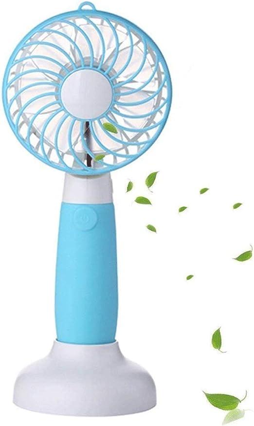 QIANGYI Ventilador de Mano Personal, Mini Ventilador con Pilas USB ...