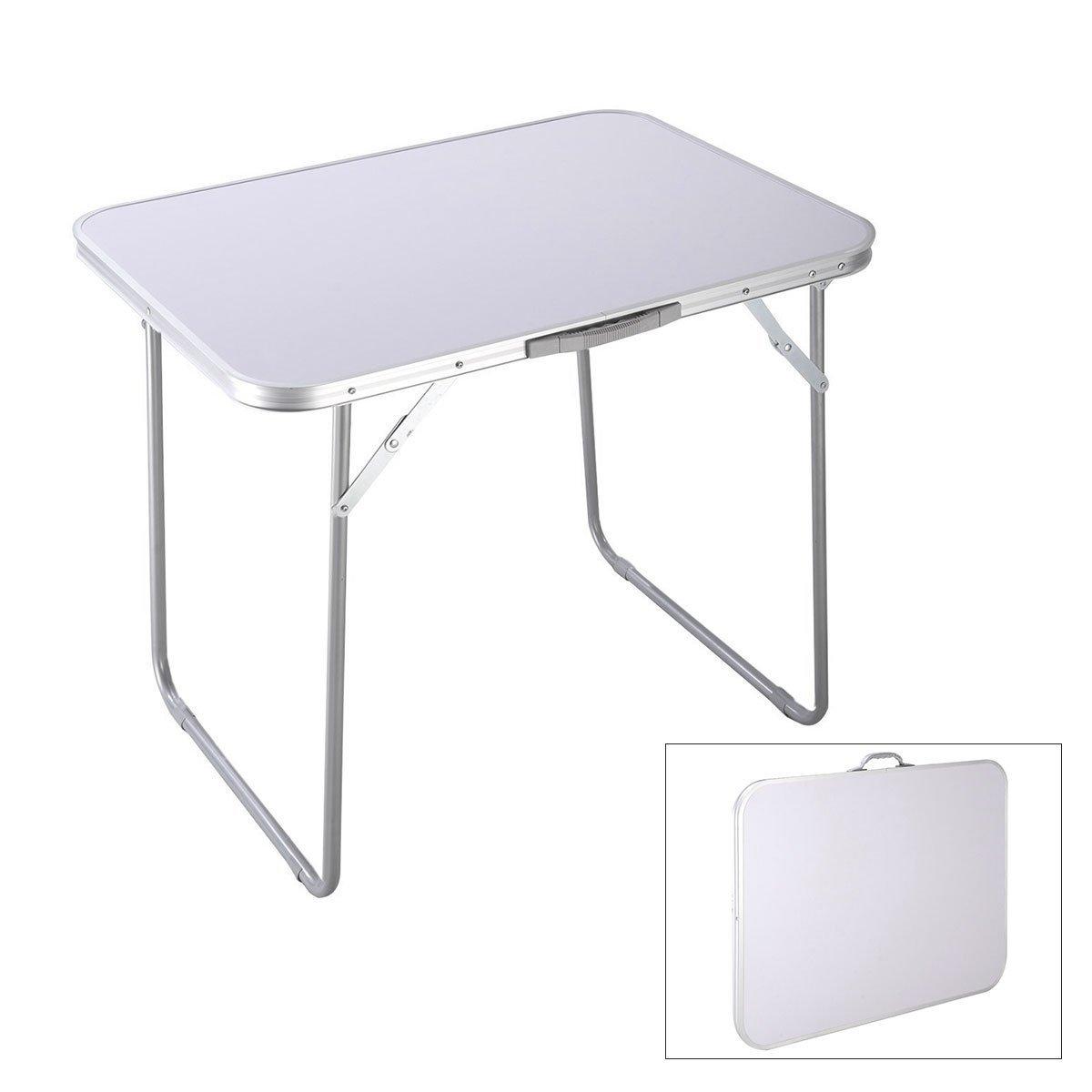 ポータブルキャンプテーブル屋外折りたたみアルミニウムピクニックパーティーダイニングデスク/屋外,White B07GK76J7H White