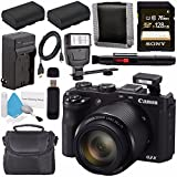 Canon PowerShot G3X G3 X Digital Camera 0106C001 + NB-10L Replacement Lithium Ion Battery + Sony 128GB SDXC Card + Carrying Case + Deluxe Cleaning Kit + Universal Slave Flash unit Bundle