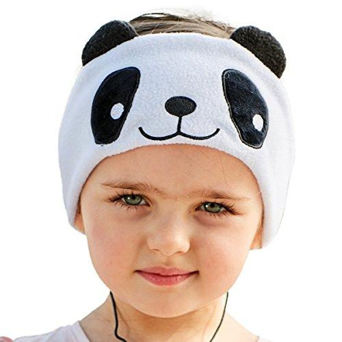 Firik Kids Headphones - Easy Adjustable Kids Costume Headband Silky Headphones for Children, Perfect for Travel and Home - Panda