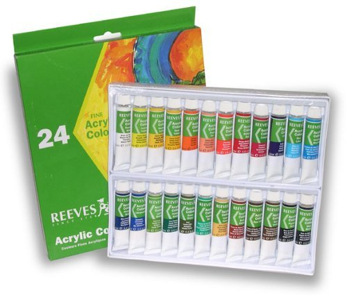 Reeves Acrylic Paint Set, Assorted Color, Set of 24